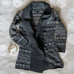 Woolrich Grey Sweater, Small Petite
